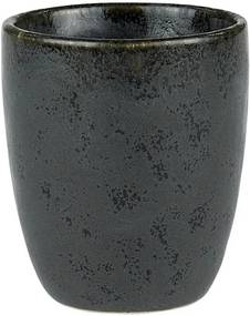 Cană din ceramică fără toartă pentru espresso Bitz Mensa, negru