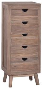 288297 vidaXL Servantă cu 5 sertare, 40 x 30 x 100 cm, lemn masiv de tec