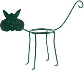Suport ghiveci pisica verde
