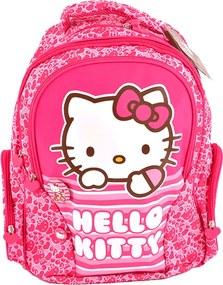 Ghiozdan clasele I-IV Pigna Hello Kitty roz dungi HKRS1736-1