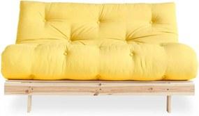 Canapea extensibilă Karup Design Roots Raw/Yellow
