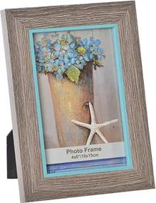 Rama foto Grey din lemn 10x15 cm