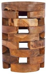 288808 vidaXL Noptieră, 30 x 30 x 45 cm, lemn masiv de tec