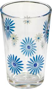 Set pahare 6 bucati cu decor flori albastre bauturi racoritoare 011135