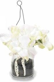 Viorele in vaza alb 17 cm x 10 cm