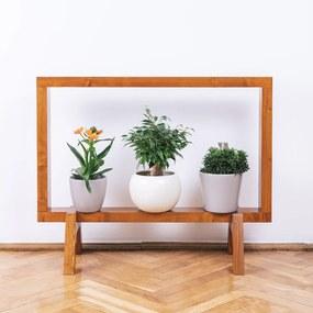 Suport din lemn masiv pentru flori, tip rama