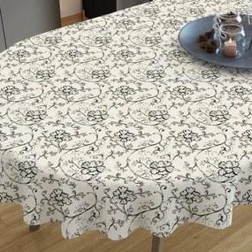 Goldea față de masă decorativă loneta - model 292 - ovale 40 x 80 cm