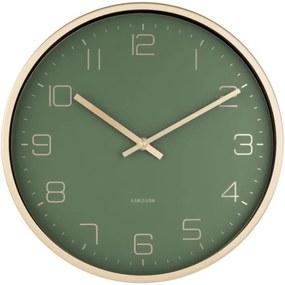 Ceas de perete Karlsson Elegance, verde