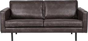 Canapea cu husă din piele reciclată BePureHome Rodeo, negru, 190 cm