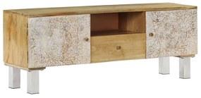 246973 vidaXL Comodă TV, 118x30x45 cm, lemn masiv de mango