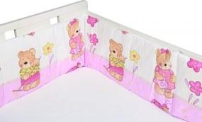 Aparatori laterale pentru pat Ursuletul fericit roz