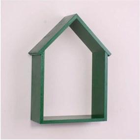 Raft de perete din lemn North Carolina Scandinavian Home Decors House, verde