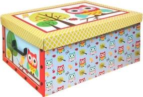 Cutie cu capac Owl 49 x 24 x 39 cm, capac galben