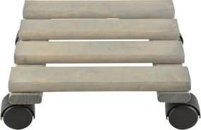 Suport lemn pentru ghiveci flori Esschert Design, lățime 24 cm