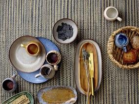 Platou pentru servire Sandrine, Gri, Ceramica 42x21 cm