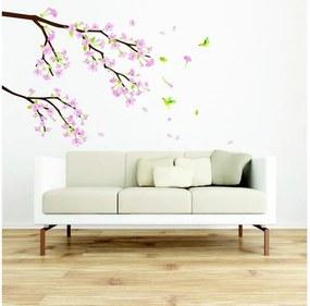Set autocolante Ambiance Tree Branch Pink Flowers
