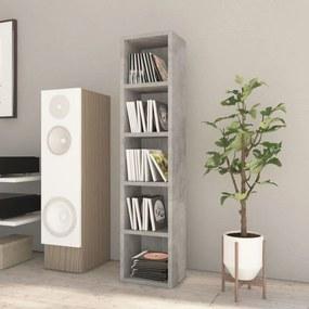 800427 vidaXL Dulap pentru CD-uri, gri beton, 21 x 16 x 93,5 cm, PAL