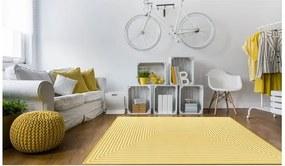 Covor foarte rezistent Floorita Braid, 160 x 230 cm, galben