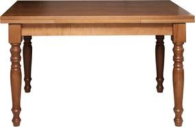 Masa extensibila Dellina din lemn maro 120x80x80 cm