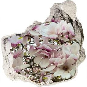 Fototapet un zid spart cu priveliște Flori magnolia