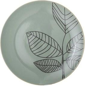 Farfurie plată din ceramică Bloomingville Rio, ⌀ 22 cm, verde