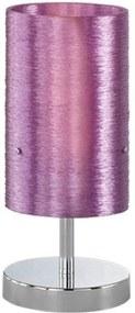Trio Lacan 593900192 Lampa de masa de noapte crom violet 1 x E14 max. 40W 30 x 13 x 13 cm