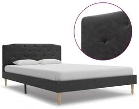 280548 vidaXL Cadru de pat, negru, 120 x 200 cm, material textil