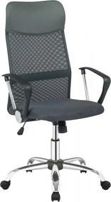 Scaun birou rotativ din piele artificială si spătar din plasă Uno negru