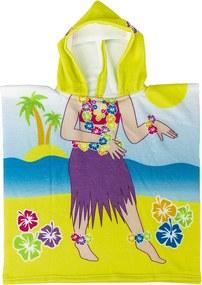 Poncho de copii, Hawai, 60 x 120 cm