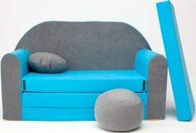 Canapea copii Misty – gri-albastru B1 + Sofa gray-blue