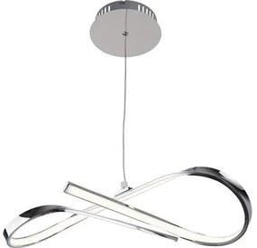 Pendul cu LED integrat Aniela 20W 1600 lumeni, crom