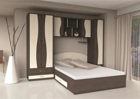 Dormitor Tineret cu D2 WENGE+MESTEACAN