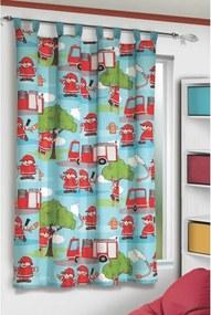 Draperie pentru copii Pompieri, 140 x 160 cm