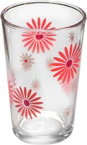 Set pahare 6 bucati cu decor flori roz bauturi racoritoare 011132