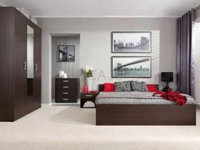 Set mobila dormitor Libera, PAL cu folie de finisaj, wenge