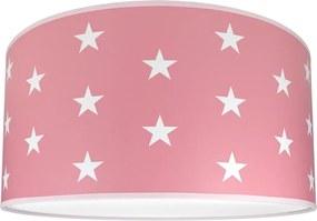 Plafoniera copii STARS PINK 2xE27/60W/230V roz