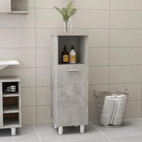 802619 vidaXL Dulap de baie, gri beton, 30 x 30 x 95 cm, PAL