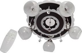 Lampă spot ARONA 5xE27/60W/230V+LED negru