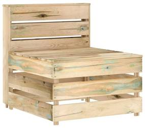 316200 vidaXL Canapea de grădină din paleți, de mijloc, lemn de pin tratat