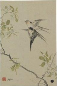 Poster din hârtie handmade BePureHome Swallows, 47 x 32 cm