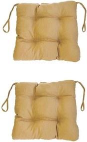 Set Perne decorative pentru scaun de bucatarie sau terasa, dimensiuni 40x40cm, culoare Bej, 2 buc/set