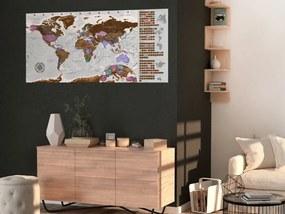 Harta razuibila - Grey Map - Poster (English Edition) 100x50 cm