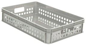 Ladita depozitare gri din plastic, 60x40x12 cm