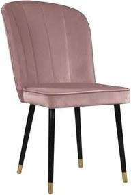 Scaun cu detalii aurii JohnsonStyle Leende, roz