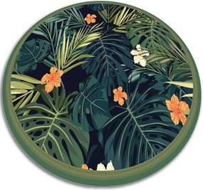 Covor de vinil acasă frunze tropicale