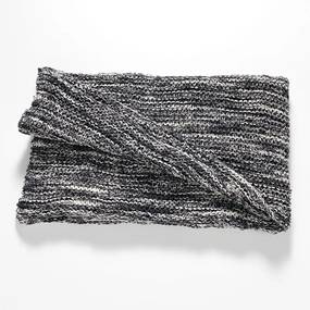 Pled din bumbac Tomasucci Blend, 70 x 130 cm, gri