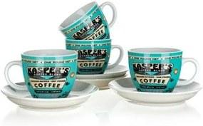 Ceașcă cu farfurioară Banquet Coffee 180 ml, 4 buc