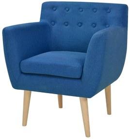 244067 vidaXL Fotoliu, albastru, material textil