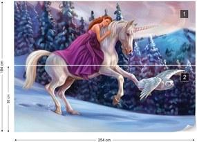 Fototapet GLIX - Princess Unicorn + adeziv GRATUIT Tapet nețesute - 254x184 cm
