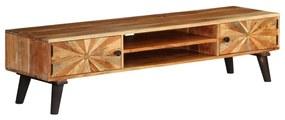 246165 vidaXL Comodă TV, lemn masiv de mango, 145 x 35 x 35 cm